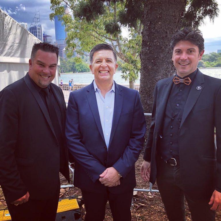 Adam Dean with Vince Sorrenti and Adam Mada