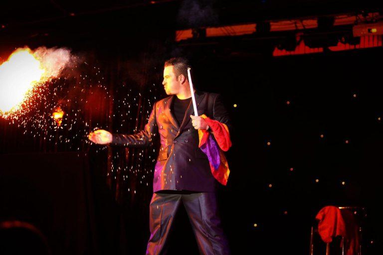 Fire magic show