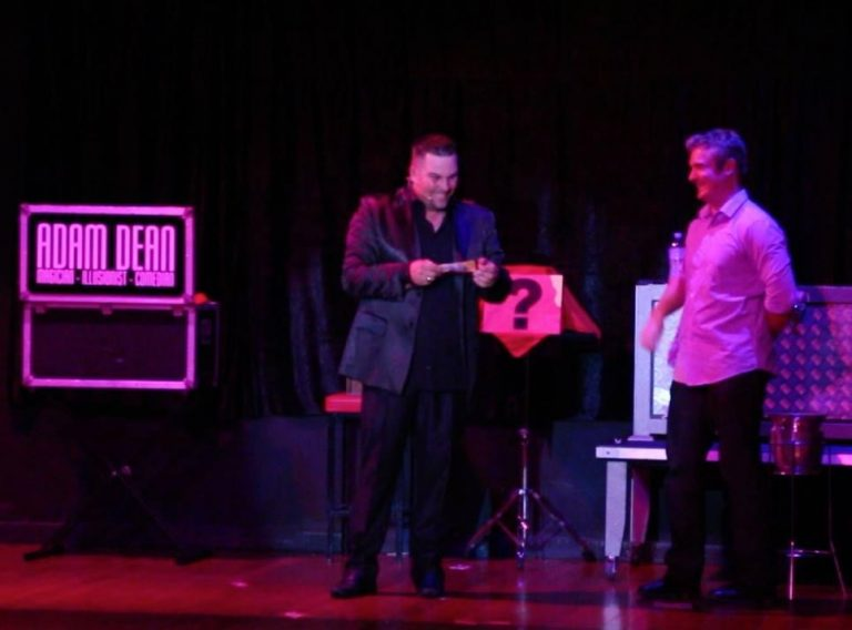 comedy magician Adam Dean