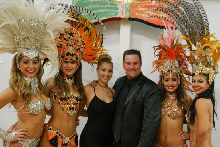Adam Dean with his show cast
