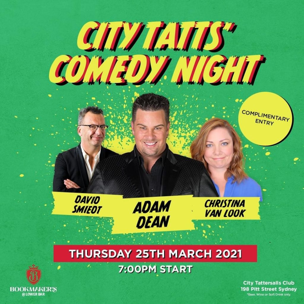 Adam Dean headlines Comedy Club